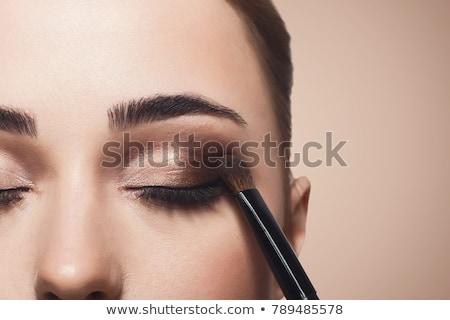 femme · maquillage · faux · cil · jeunes · asian - photo stock © redpixel