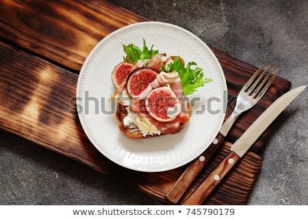 füme · domuz · pastırması · sığ · gıda · balık · turuncu - stok fotoğraf © fanfo