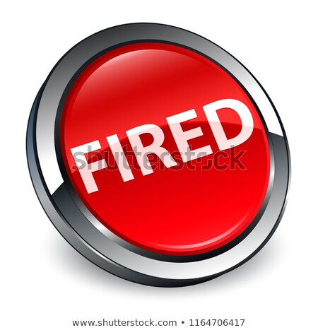 Fire Word on Round Red Button Stock photo © iqoncept