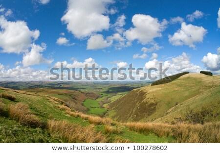 Wales schilderachtig heuvels Blauw witte Stockfoto © latent