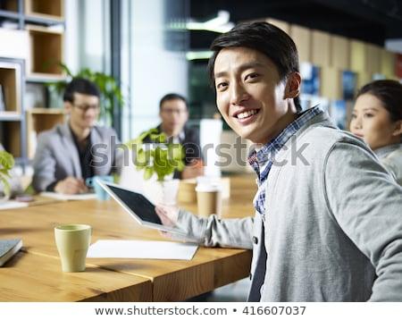 Empresário escritório reunião negócio trabalhar Foto stock © photography33