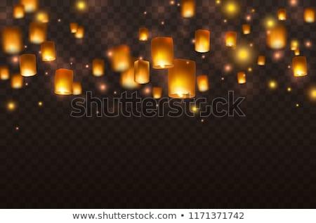 Lanterna camping isolado branco metal Óleo Foto stock © kitch