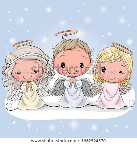 angel with snowflakes 3 stock photo © dolgachov