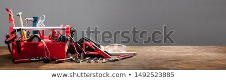 Vermelho ferramentas água bombear planeta terra imagem Foto stock © tomistajduhar
