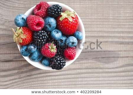 Bowls of berries Stock photo © danielgilbey