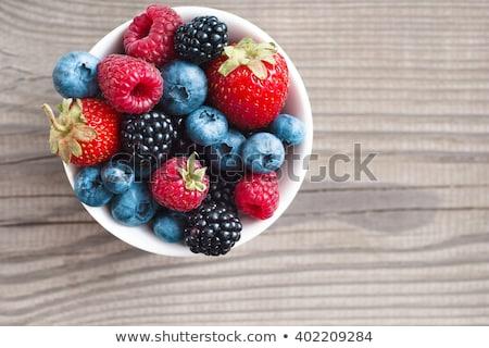 friss · egész · eprek · smoothie · három · kréta - stock fotó © danielgilbey