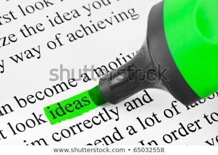 responsabilité · vert · définition · mot · pointe · stylo - photo stock © ivelin