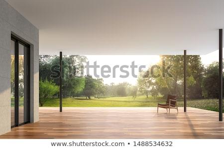 Stockfoto: Stoelen · tropische · tuin · terras · tabel · huis