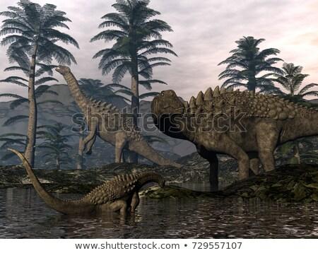 恐竜 シーン 3dのレンダリング 自然 3D レンダー ストックフォト © AlienCat