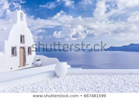 православный · часовня · венецианский · замок · греческий · острове - Сток-фото © tuulijumala
