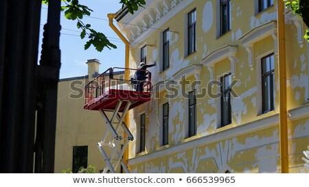 Facade of an restored house Stock photo © elxeneize