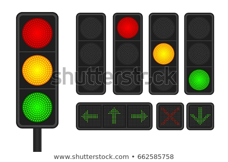 Trafik ışığı ok beyaz kolay yol imzalamak Stok fotoğraf © idesign