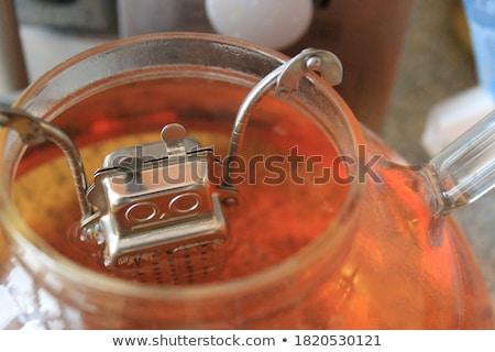 茶 · 孤立した · 白 · 金属 · ボール · スタジオ - ストックフォト © zerbor