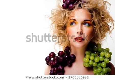 女性 創造 化粧 グレープフルーツ 美人 オレンジ ストックフォト © chesterf