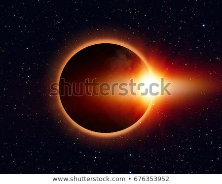 Fogyatkozás űr illusztráció csillagok kék éjszaka Stock fotó © clearviewstock