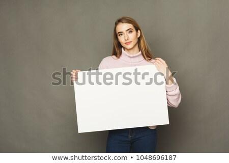 Sério mulher atraente mulher jovem Foto stock © fantasticrabbit