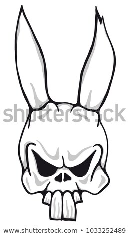 Horreur lapin vecteur cartoon illustration isolé Photo stock © ddraw