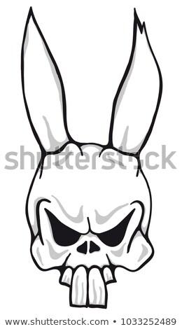 Horror bunny vector cartoon illustratie geïsoleerd Stockfoto © ddraw