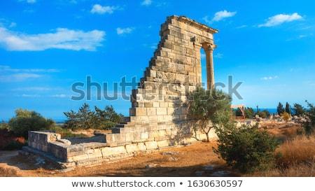 romok · egy · népszerű · turisztikai · hely · Ciprus - stock fotó © kirill_m