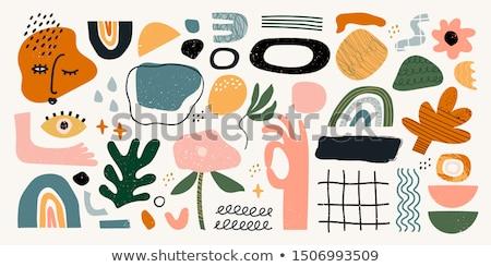 színes · mértani · absztrakt · ikon · üzlet · terv - stock fotó © cidepix
