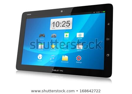 Android táblagép 3d illusztráció számítógép férfi háttér Stock fotó © Kirill_M