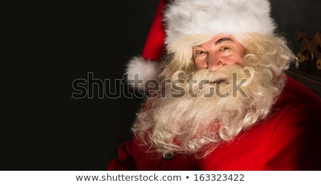 Santa Claus closeup portrait indoors in real life Stock photo © HASLOO