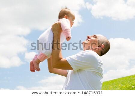 padre · pequeño · bebé · jóvenes · jugando - foto stock © AndreyPopov