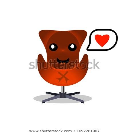 kırmızı · ofis · koltuğu · yalıtılmış · beyaz · ofis · dizayn - stok fotoğraf © jonnysek