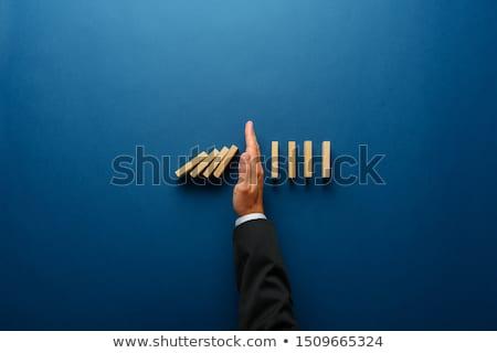 homme · d'affaires · marche · corde · raide · serviette · dangereux · élevé - photo stock © iodrakon