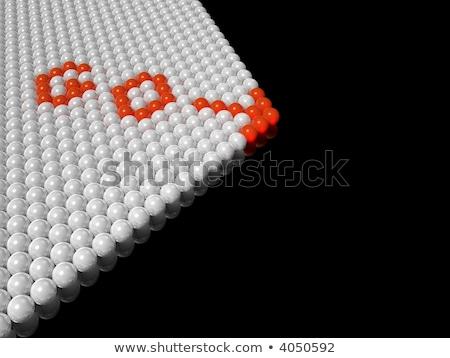 Rojo flecha blanco grupo 3D Foto stock © silense