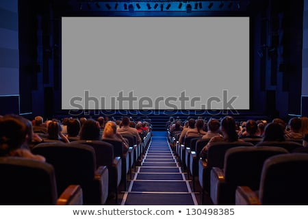Empty cinema screen with audience Stock photo © franky242