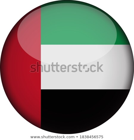 Emirates Flag Paper Circle Shadow Button Stock photo © gubh83