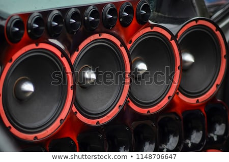 Zdjęcia stock: Nowoczesne · samochodu · audio · technologii · dźwięku · naciśnij