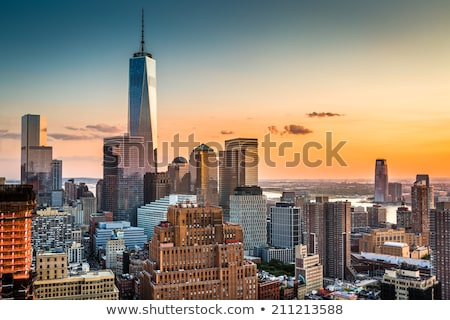 New · York · City · Manhattan · freedom · tower · New · Jersey · Skyline · après-midi - photo stock © cmcderm1