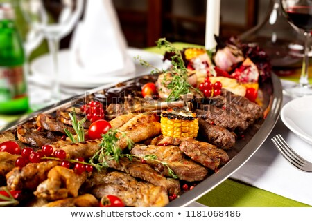 Assorted meat at a restaurant stock photo © bmonteny