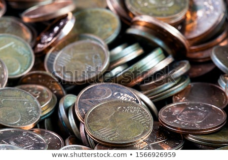 Stock photo: Money, finances. Euro coins