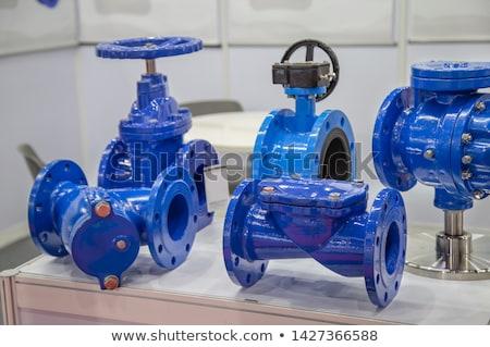 клапан 3D генерируется фотография промышленных сантехники Сток-фото © flipfine