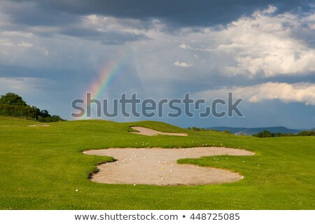 Vazio campo de golfe chuva hills golfe esportes Foto stock © CaptureLight