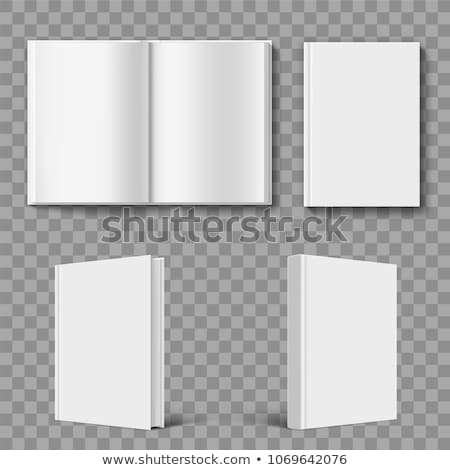 white open book cover template stock photo © tarikvision