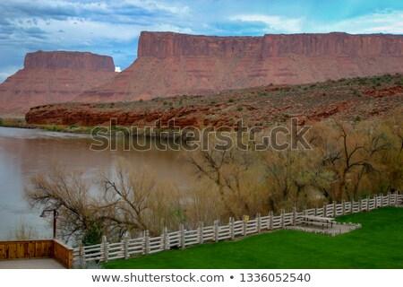 Zamek zatoczka winnicy Utah USA krajobraz Zdjęcia stock © phbcz