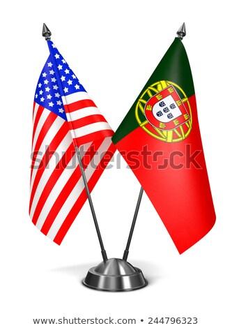 usa and portugal   miniature flags stock photo © tashatuvango