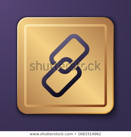 Protected Link Purple Vector Icon Button Stock photo © rizwanali3d