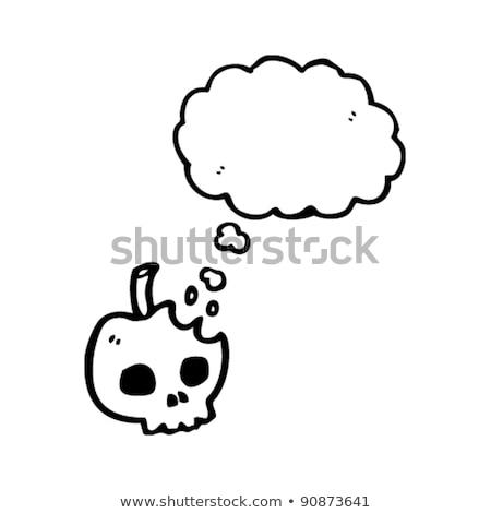 смешные Cartoon череп мысли пузырь стороны дизайна Сток-фото © lineartestpilot
