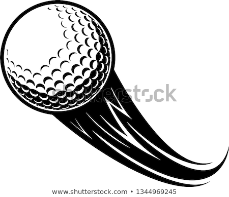 Flying golf ball Stock photo © tilo