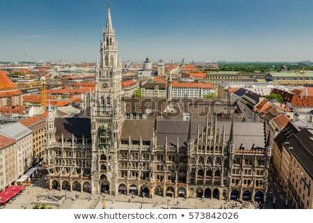 Középkori városháza épület München Németország égbolt Stock fotó © vwalakte
