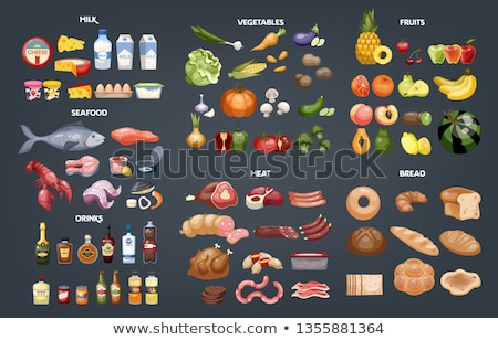 Food and beverages icons color. Stock photo © padrinan