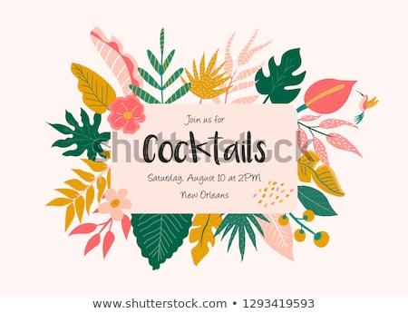 Summer travel invitation card, vector illustration Stock photo © carodi