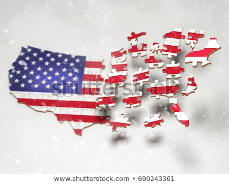USA and USA Flags in puzzle stock photo © Istanbul2009