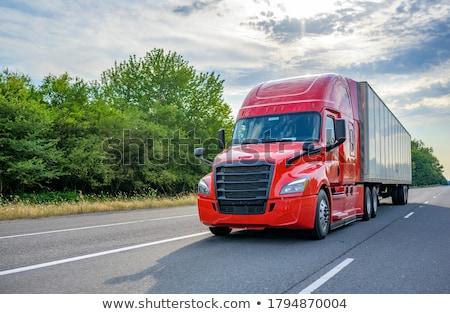 oplegger · vrachtwagen · gedetailleerd · realistisch · industrie · trekker - stockfoto © derocz