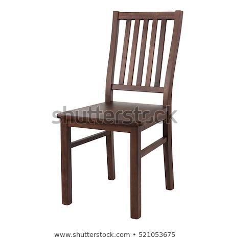 Stockfoto: Houten · stoel · geïsoleerd · witte · ontwerp · home · bar